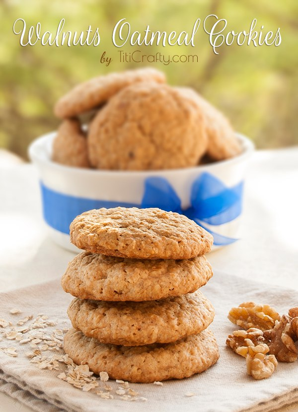 Walnut Oatmeal Cookies