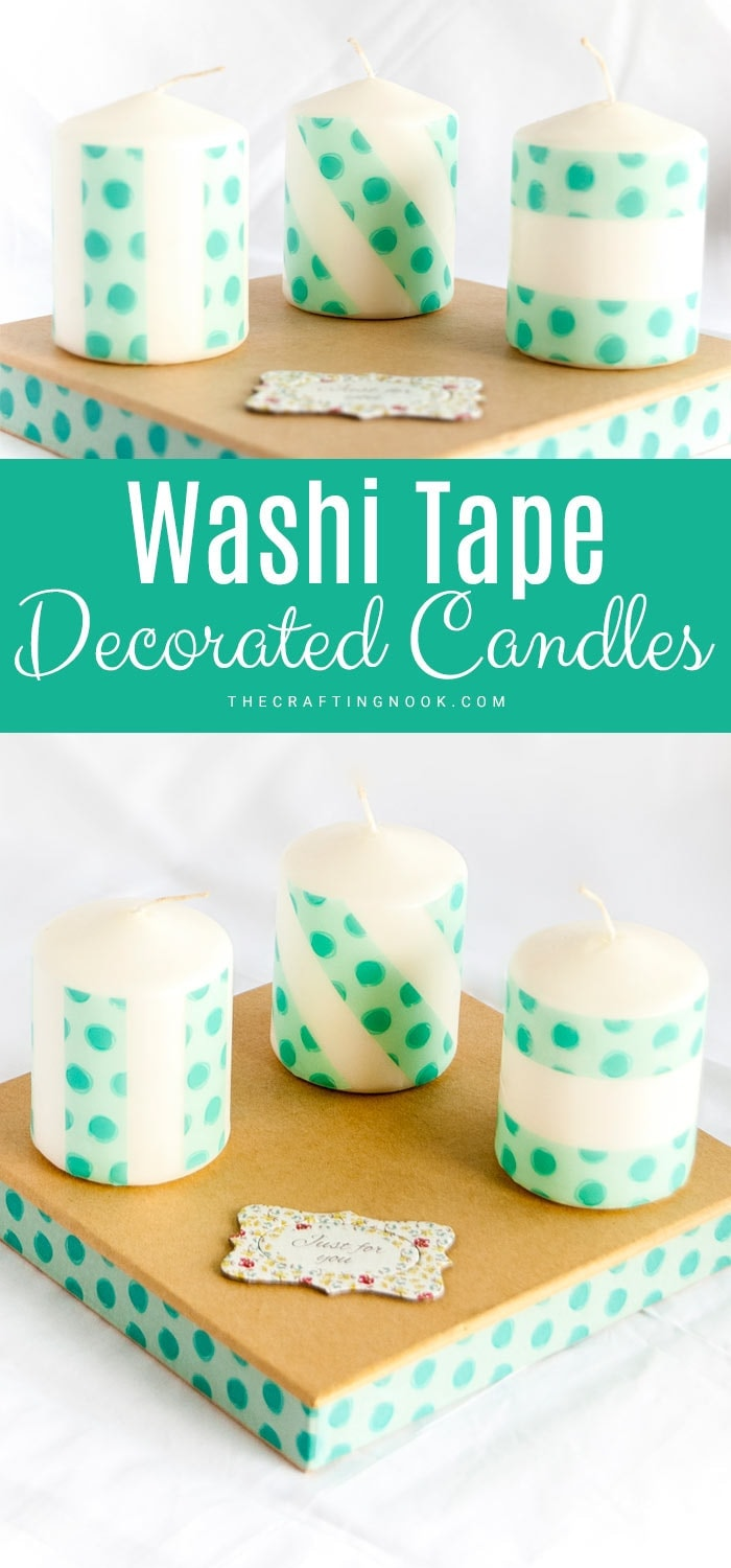 Washi Tape Decorated Candles