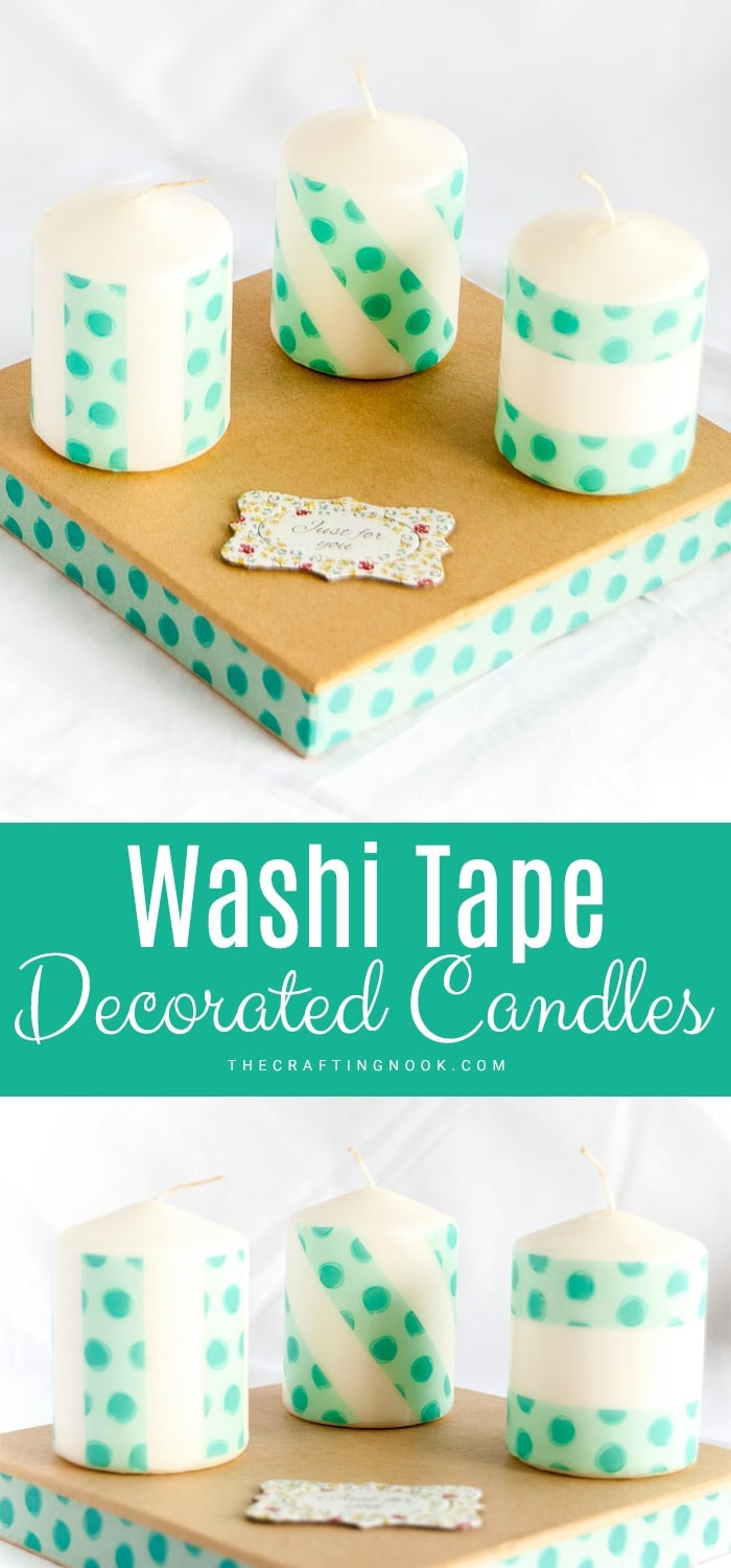 How to make Washi Tape Decorated Candles