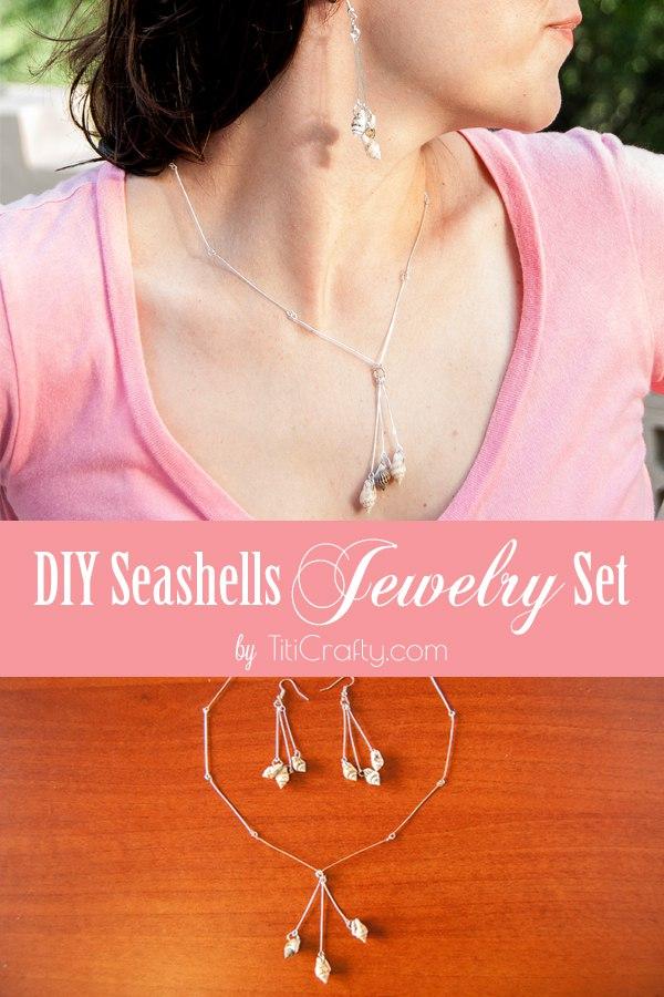 DIY Seashells Jewelry Set Tutorial