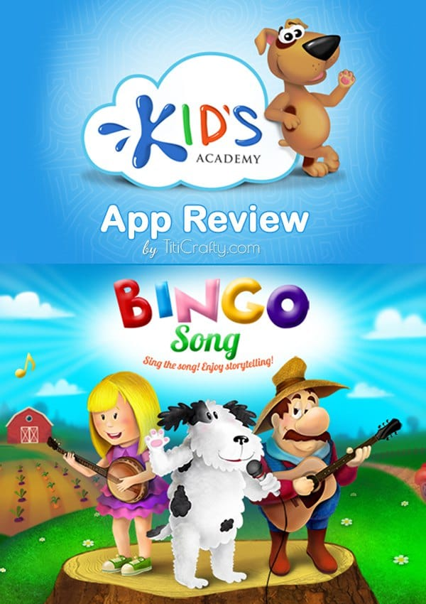 Kid's Academy Bingo Song Game App Review