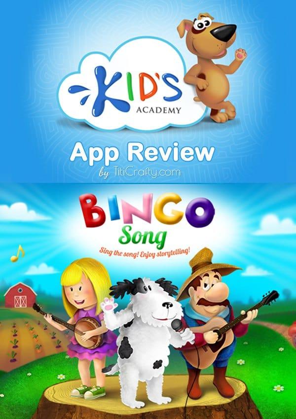 Kid's Academy Bingo Song Game App Review