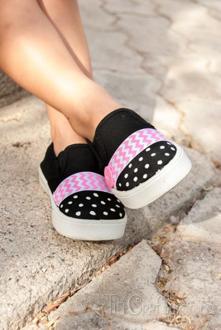 Chevron-Polka-dots-Embellished-Shoes-Tutorial