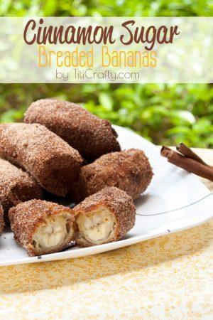 Cinnamon Sugar Breaded Bananas Recipe