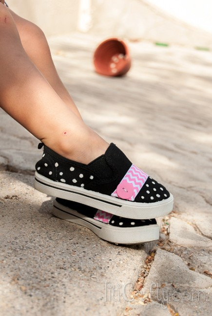 Cute-Chevron-Polka-dots-Embellished-Shoes