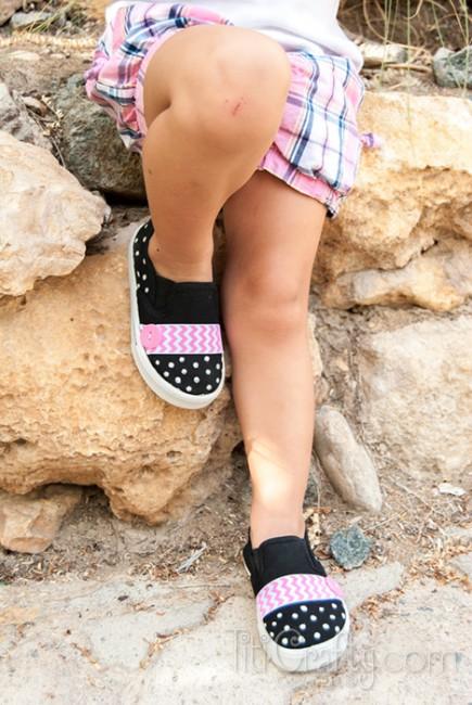 DIY-Chevron-Polka-dots-Embellished-Shoes