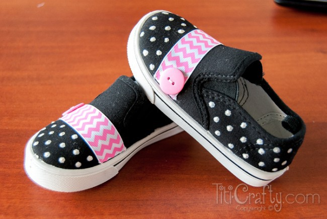 DIY-Cute-Chevron-Polka-dots-Embellished-Shoes-Tutorial