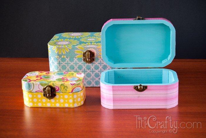 DIY-Cute-and-Simple-Mod-Podge-Wooden-Jewelry- & DIY Mod Podge Wooden Jewelry Boxes | The Crafting Nook by Titicrafty Aboutintivar.Com