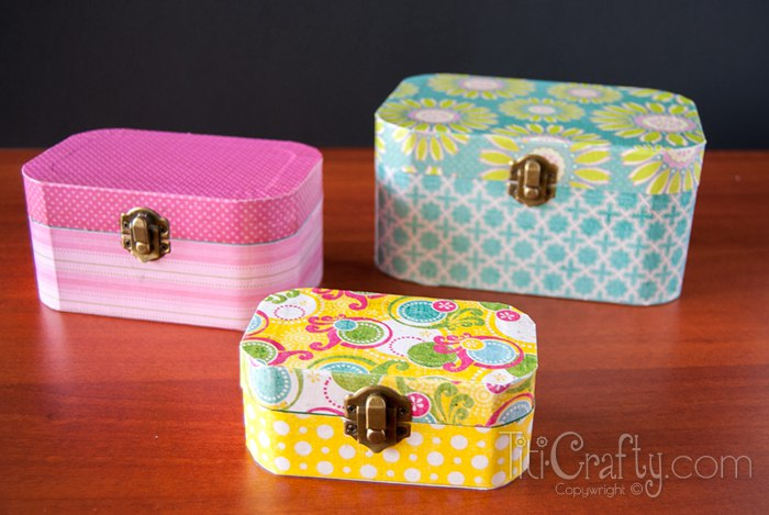 Diy Mod Podge Wooden Jewelry Boxes This Silly
