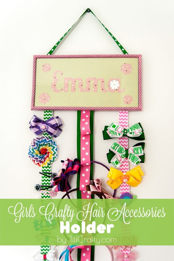 DIY Girls Crafty Hair Accessories Holder Tutorial