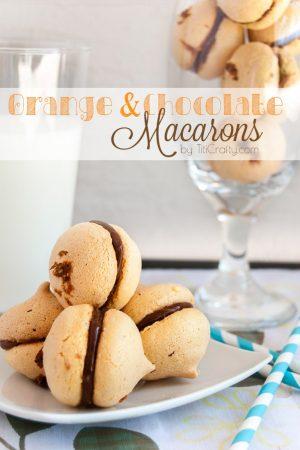 Orange and Chocolate Macarons