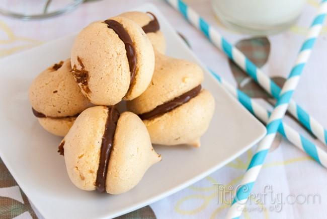 Orange-and-Chocolate-Macarons