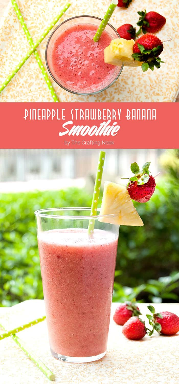 Pineapple Strawberry Banana Smoothie Recipe