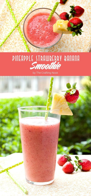 Pineapple Strawberry Banana Smoothie Recipe