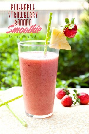 Pineapple Strawberry Banana Smoothie