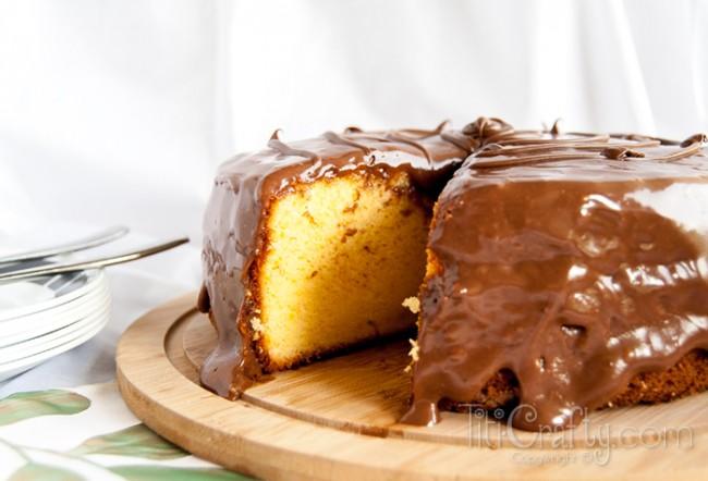 Orange-Cake-with-Nutella-Glaze-Yummy-Recipe