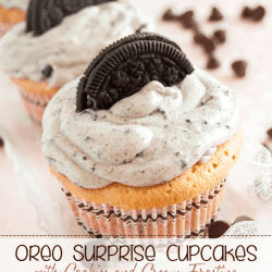 Oreo Surprise Cupcakes with Cookies and Cream Frosting Recipe. Simply Yummy!!!