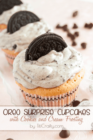 Oreo Surprise Cupcakes with Cookies and Cream Frosting