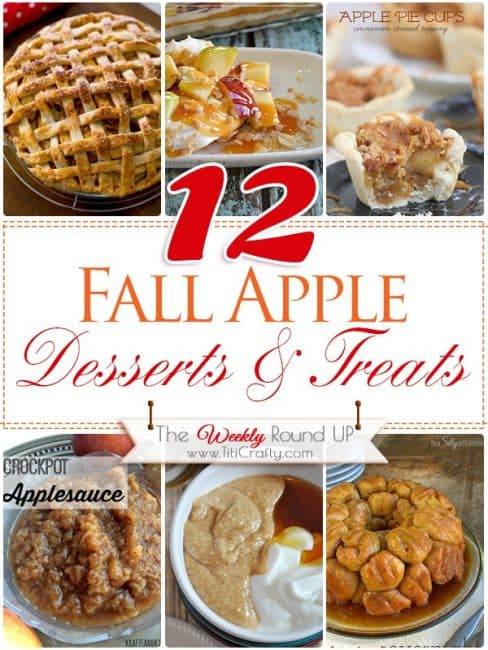 12 Fall Apple Desserts and Treats Recipes {The Weekly Round up Series}