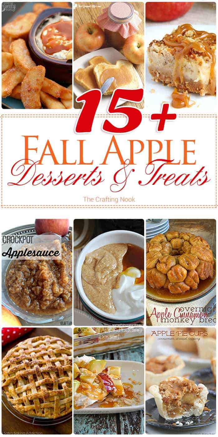 15+ Fall Apple Desserts and Treats