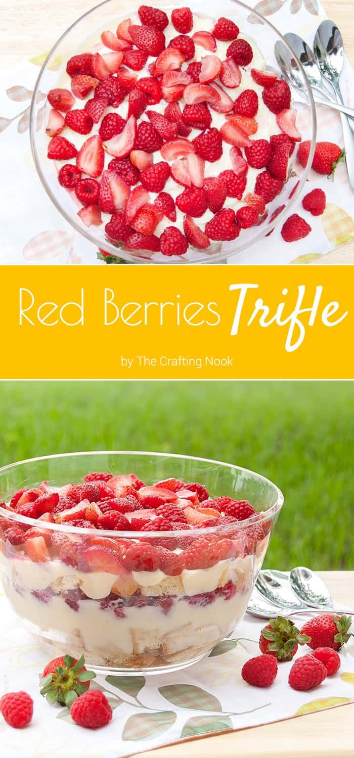 This Red Berries Trifle is a perfect dessert or afternoon treat for the whole family. Easy to make and so flavorful!!! You gotta try it ASAP!