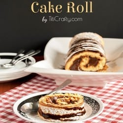 Chocolate Cream Cake Roll #Recipe #cakeroll #chocolaterecipe