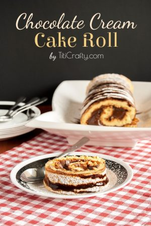 Chocolate Cream Cake Roll