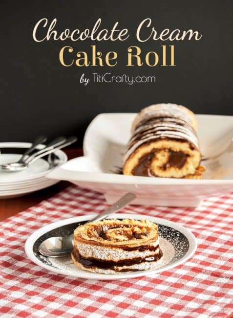 Chocolate Cream Cake Roll #Recipe #cakeroll #chocolaterecipe