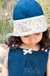 Flowers & Denim Hat for Little Girls Tutorial #sewingtutorial #denimhat