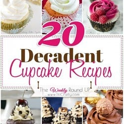 Decadent Cupcake Recipes {The Weekly Round Up} #cupcakerecipes #decadentcupcakes
