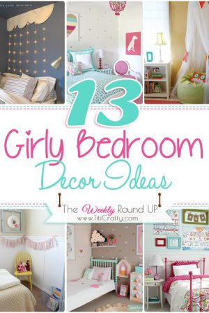 13 Girly Bedrooms Decor Ideas {The Weekly Round Up}