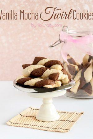 Vanilla Mocha Twirl Cookies