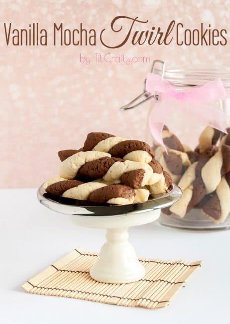 Vanilla Moka Twirl Cookies #Recipe #cookierecipe