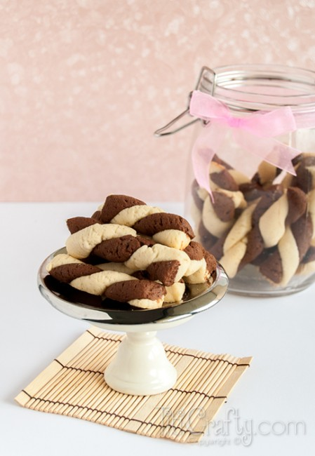 Easy Vanilla Moka Twirl Cookies Recipe
