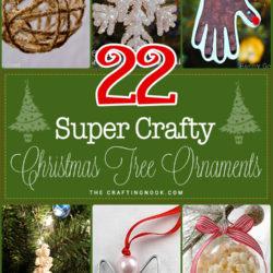 22 Crafty Christmas Tree Ornaments