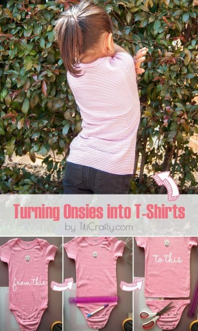 DIY Turning Onesies into T-Shirts #Tutorial #onesiestoshirts #onesies