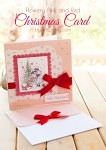 Flowery Pink and Red Christmas Card Tutorial #Christmascard #christmas