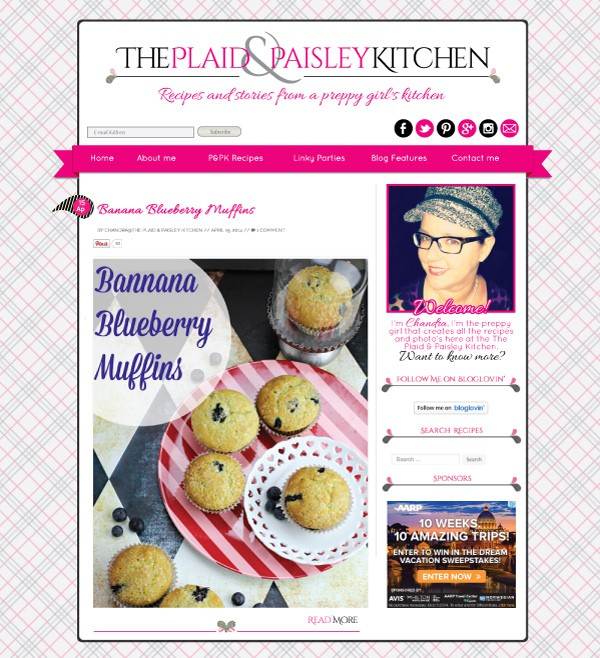 Plaid & Paisley Kitchen Blog Design