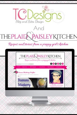 TCDesigns Black Pink The Plaid & Paisley Kitchen Blog #TCDesigns #blogdesign #cuteblogdesign