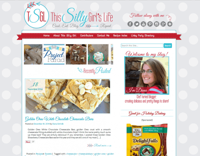 TCDesigns Red Aqua with This Silly Girl's Life Blog #blogdesign #cuteblogdesign #tcdesigns