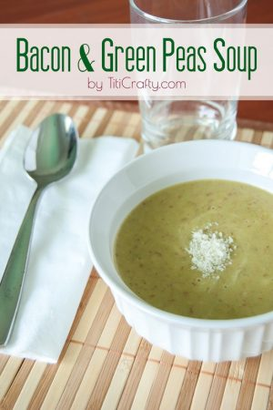 Bacon and Green Peas Soup Recipe #souprecipe #baconrecipe #greanpeassoup