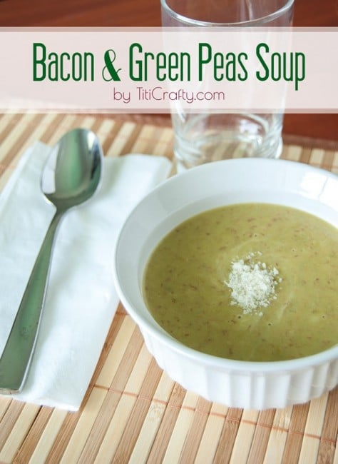 Bacon and Green Peas Soup Recipe #souprecipe #baconrecipe #greanpeassoup