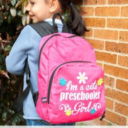 Cute Preschooler Heat Transfer Vinyl Backpack #Tutorial #silhouetteproject #heattransfervinyl