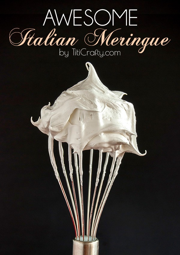 How to Make an Awesome Meringue. Tutorial from Titi Crafty