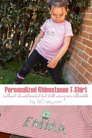 Personalized Rhinestone T-Shirt