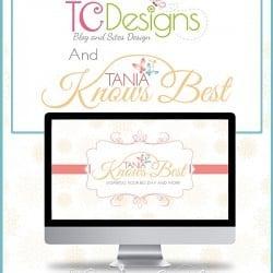 TCDesigns Brand Design Tania Knows Best #blogdesign #weblogdesign #cuteblogdesign #Logodesign