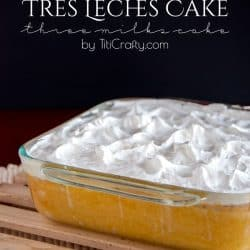 Delicious Tres Leches Cake {Three Milks Cake} #Recipe #treslechescake #threemilkscake