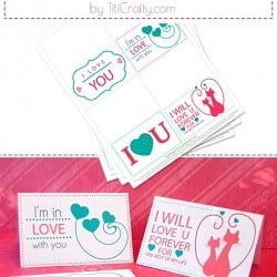 Valentine's Day Mini Cards Free Printable #freeprintable #valentinesdayfreeprintable #valentinesday