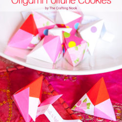 Valentineás Day Origami Fortune Cookie