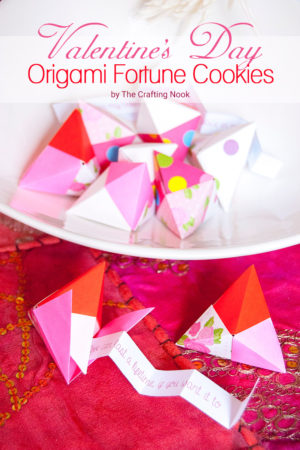 Origami Fortune Cookie for Valentine's Day (Fun and easy)
